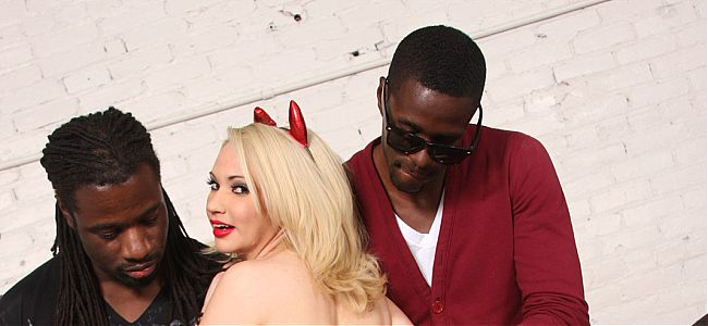 Devilishly hot Sara Monroe getting gangbanged by horny blacks on brobang blog