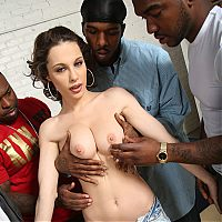 French hottie Nikita Bellucci lets black cocks ream her tight holes on brobang blog
