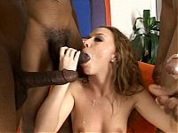 Cute young chick becomes a black mens little white slut on brobang blog